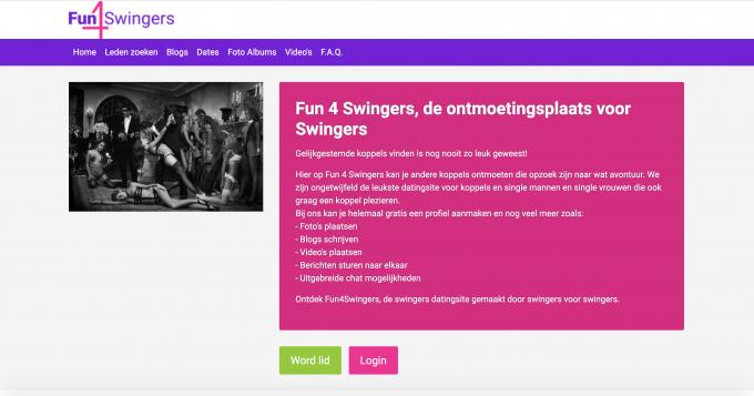 Fun4Swingers datingsite voor swingers maar dan anders