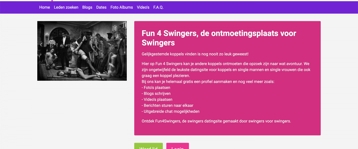 Fun4Swingers datingsite voor swingers maar dan anders